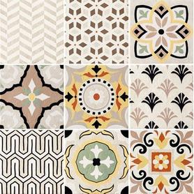 Dekor ścienny 9-elementowy Prowansja patchwork 60,8x60,8 Gat.1