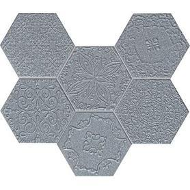 Mozaika ścienna Lace graphite 28,9x22,1 Gat.1