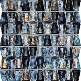 MOZAIKA DROPS GLASS GREY 30,4X30,6 GAT.1