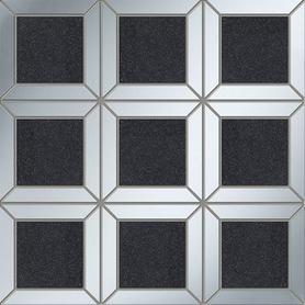 Mozaika ścienna Lucid square black 29,8x29,8 Gat.1