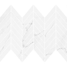 MARINEL WHITE CHEVRON MOSAIC GLOSSY 29,8X25,5 WD937-014