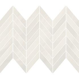 MARKURIA WHITE CHEVRON MOSAIC MATT 29,8X25,5 WD1017-001