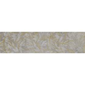 GRES SOFTCEMENT SILVER DECOR FLOWER RECT.  1197X297X8