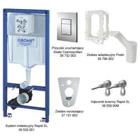 Zestaw instalacyjny Rapid SL 5w1 chrom ze spłuczką do WC 6-9 L