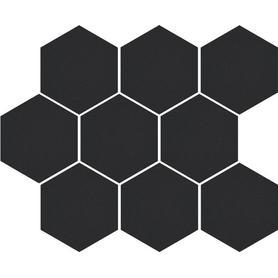 CAMBIA BLACK LAPPATO MOZAIKA HEKSAGON 33,4x27,53x8 (5szt) GAT.1