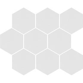 CAMBIA WHITE LAPPATO MOZAIKA HEKSAGON 33,4x27,53x8 (5szt) GAT.1