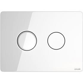przycisk pneumatyczny ACCENTO CIRCLE szkło białe S97-055