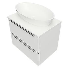 OMNIDREAM blat, umywalka Marble+ SIENA L, 60x42cm, biały połysk    DREAMSET6020BP
