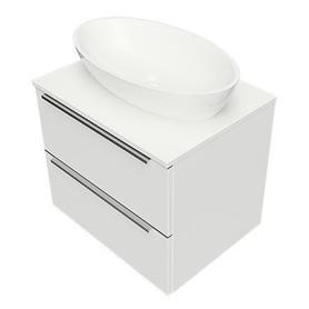 OMNIDREAM blat, umywalka Marble+ SIENA L, 60x46cm, biały połysk    DREAMSET6120BP