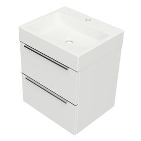 OMNIDREAM szafka z umywalką Marble+ THASOS, 50x42cm, biały połysk    DREAMSET5030BP