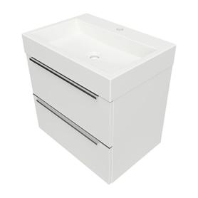 OMNIDREAM szafka z umywalką Marble+ THASOS, 60x42cm, biały połysk    DREAMSET6030BP