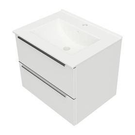 OMNIDREAM szafka z umywalką ceramiczną ORLANDO, 61x47cm, biały połysk    DREAMSET6131BP