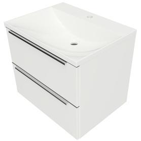 OMNIDREAM szafka z umywalką Marble+ NAXOS, 60x46cm, biały połysk    DREAMSET6132BP