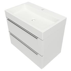 OMNIDREAM szafka z umywalką Marble+ THASOS, 70x42cm, biały połysk    DREAMSET7030BP