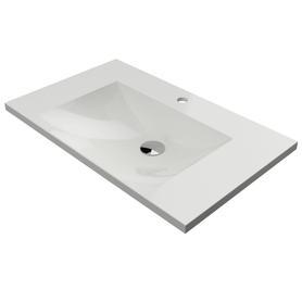 NAXOS umywalka meblowa Marble+, 76x46cm, biały połysk      NAXOS760BP