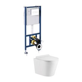 TAMPA podtynkowy zestaw WC z miską i deską TAMPA, biały/biały TAMPASLSETBPBP