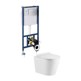 podtynkowy zestaw WC TAMPA Biały połysk/Chrom TAMPASLSETBPCR