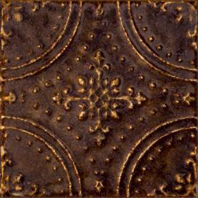 Dekor ścienny Tinta brown 14,8x14,8 Gat.1