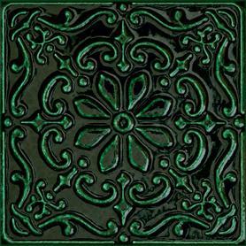 Dekor ścienny Tinta green 14,8x14,8 Gat.1