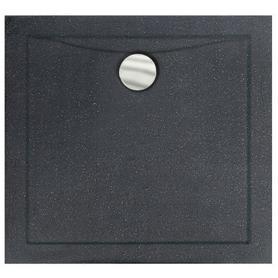 AQUARIUS SLIMLINE STONE EFFECT brodzik kwadratowy czarny 90 x 90 BAA-90-K-C