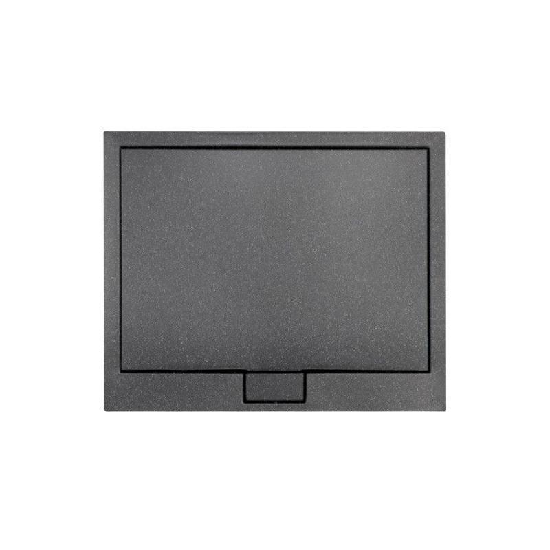 AXIM ULTRASLIM STONE EFFECT brodzik prostokątny czarny 120 x 90 BAX-129-P-C
