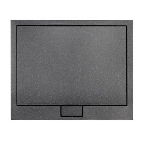 AXIM ULTRASLIM STONE EFFECT brodzik półokrągły czarny 80 x 80 BAX-80-NR-C