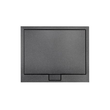AXIM ULTRASLIM STONE EFFECT brodzik kwadratowy czarny 90 x 90 BAX-90-KW-C