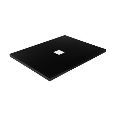 NOX ULTRASLIM brodzik prostokątny czarno-biały 120 x 90 BMN120-90-CB