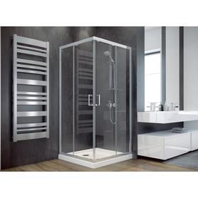 MODERN kabina kwadratowa przejrzyste szkło 90 x 90 x 185 MK-90-185-C