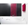 NATALIA wanna asymetryczna prawa / Zestaw Premium: wanna+zagłówek Ambition +2 uchwyty Standard Premium 150 x 100 WAN-150-NP$