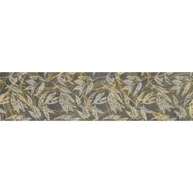 GRES SOFTCEMENT GRAPHITE POLER DECOR FLOWER 1197X297X8