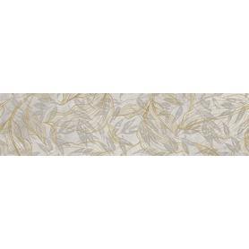 GRES SOFTCEMENT WHITE POLER DECOR FLOWER  1197X297X8