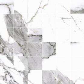 MOZAIKA CALACATTA WHITE SATYNA 297x297x8 (5szt) GAT.1