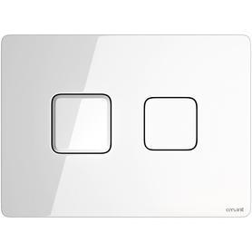 przycisk pneumatyczny ACCENTO SQUARE szkło białe S97-054