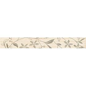 TANAKA CREAM BORDER FLOWER 5X40 WD798-014