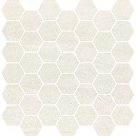 BANTU CREAM HEKSAGON SMALL MOSAIC GLOSSY 29X29,7 WD598-003
