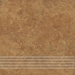 STOPNICA FREZOWANA NATURALNA ALPINO 04 BRĄZ 330x330x7,5 Gat. I (10)