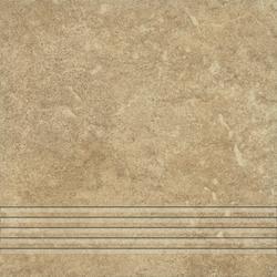 STOPNICA FREZOWANA NATURALNA ALPINO 02 KREM 330x330x7,5 Gat. I (10)