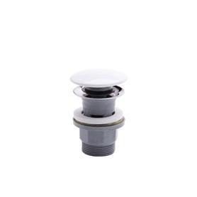 RONDO Korek  Click-clack z przelewem, polipropylen, czarny korek ceramiczny czarny/szary FD7-304-43