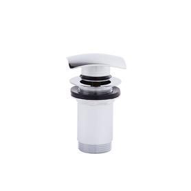 SQUARE Korek  Click-clack z przelewem, mosiężny chrom FD7-306-11