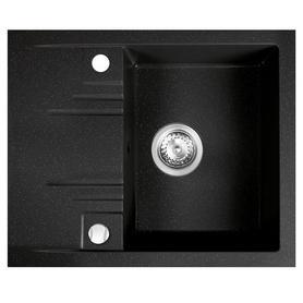 Carioca Zlewozmywak granitowy 1 komorowy z krótkim ociekaczem grafit shine FD9-12-4858-02