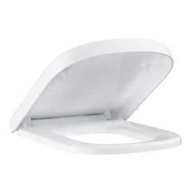 Euro Ceramic deska WC wolnoopadająca z pokrywą z tworzywa Duroplast 37.4 x 44.3 biel alpejska