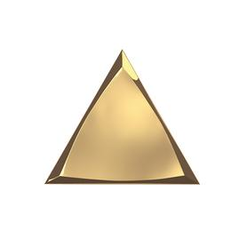 TRIANG. 15X17 CHANNEL GOLD GLOSSY 218368