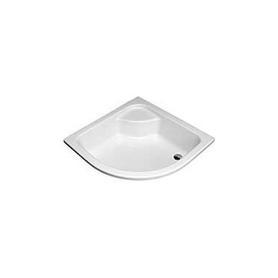 BRODZIK GŁĘBOKI półokrągły 90x90x21 cm biały - XBN0390000