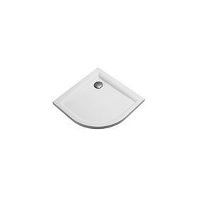 BRODZIK PACYFI półokrągły 90x90x5 biały - XBN0790000