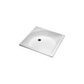 BRODZIK GŁĘBOKI kwadratowy 80x80x21 cm biały - XBK0380000