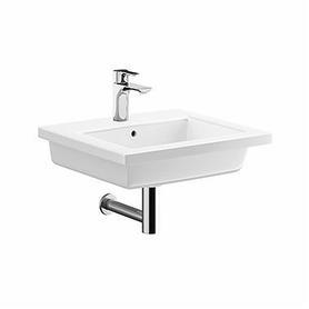 TWINS umywalka meblowa z otworem z przelewem z niskim rantem 500 x 460 mm biała L51950000