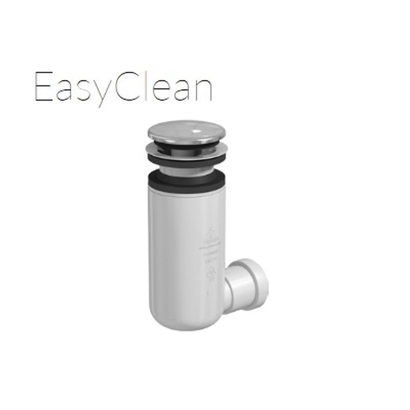 EASY CLEAN POP UP Klik Klak  chrom - z czyszczeniem od góry