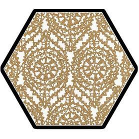 SHINY LINES GOLD HEKSAGON INSERTO A 19,8X17,1 G1 (12.000)