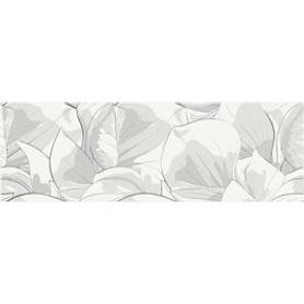 DEKOR FLOWER CEMENTO WHITE INSERTO 24x74